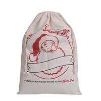 via des sacs achat en gros de-Livraison gratuite via FedEx monogrammable en gros Santa sacs, sacs de Noël, sacs de Père Noël, sac de Noël EAD-081
