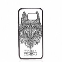Wholesale Game Thrones Galaxy - Game Of Throne Winter is Coming Phone Covers Shells Hard Plastic Cases For Samsung Galaxy S4 S5 MINI S6 S7 edge S8 S8 Plus