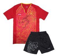 jérsei sets china venda por atacado-Nova Li-Ning CHINA equipe de ténis de mesa roupas homens, tênis de mesa masculina jerseys, pingue-pongue, Zhang Jike Ma longo tabe uniformes de tênis 1 conjunto