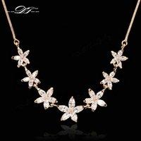 Wholesale Gemstone Flower Pendant - Vintage Imitation Crystal Choker Necklaces & Pendants Fashion Brand Imitation Gemstone Wedding Jewelry For Women Accessiories DFN025