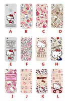 Wholesale kitty cell phone - For Apple iphone 7 plus 6 6S plus SE silicone case 40th anniversary Hello kitty ultra thin Plating TPU cell phone cases