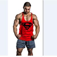 chalecos musculares al por mayor-Hombre estampado estampado culturismo gimnasia sin mangas para hombres tallas grandes camisetas sin mangas de algodón camisas tanques deportivos chalecos de fitness XXL