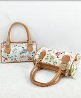 Wholesale Brand Handbags For Cheap - Wholesale-Brand Handbag Women Fashion Casual Zipper Floral Printing Tote Female Canvas Cheap Shopping Bag Metal Accessories for Handbags