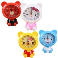 New Clock Home Outdoor Portable Mini Cute Cartoon Bear Número de Relógio Digital Saat Round Kids Toy Desktop Relógio Despertador