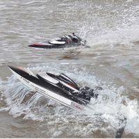 ingrosso h barca-All'ingrosso-FeiLun FT012 barca da regata ad alta velocità RC Brushless Fast Self Righting RC Boat 45 km / h VS FT011 FT010 FT009 Remote Control Boat Mode