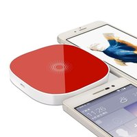 Wholesale Qi 4s - Inductive Qi Wireless Charger for Samsung HTC LG Qi Wireless Charger for iPhone 4 4s 5 5s 5c 6 6s 6+ QI Mobile Phone Charger