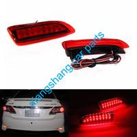 luces de advertencia toyota al por mayor-El reflector de parachoques trasero rojo de Sepcial enciende la luz de parachoques de la advertencia de estacionamiento de la luz trasera de DC12V para 2011-2013 Toyota Corolla / Lexus CT200H