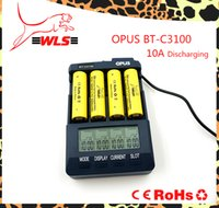 Wholesale Charger Nimh Nicd - Original opus bt-c3100 Battery Charger Smart Universal LCD Digital Li-ion NiCd NiMh AAA 10440 18650 Rechargeable Batteries us free shipping