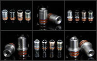 Wholesale Ego Steel Drip Tips - 6 style Stainless Steel 510 Ego drip tips metal drip tip ss mouthpiece for atomizer tank e cig rda rba vape 20pcs
