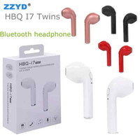 HBQ I7 TWS Twins Wireless Bluetooth Earbuds Mini V 4,2 DER Auricolare stereo auricolare per cuffie Bluetooth per Galaxy S8 iphone 7 plus