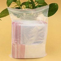 Wholesale Plastic Bags x10cm Jewelry Ziplock Zip Zipped Lock Reclosable Poly Clear Packaging Bags Papelaria Material Escolar
