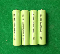 Wholesale cell nimh battery resale online - 300pcs mAh v AAA rechargeable battery Nimh cells Shrink wrap packing Factory