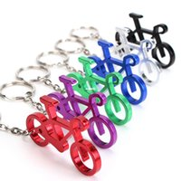 Wholesale Novelty Beers - Novelty Bike Bicycle Keychain Keyring Bottle Wine Beer Opener Tool 6 Colors