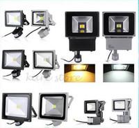 Wholesale Downlight Sensor - X4 newest downlight Free shipping 10W 20W 30W 50W 70W waterproof IP65 PIR Motion sensor led floodlight flood light parki led lights