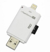 Wholesale-20pcs / lot Multi en memoria del adaptador OTG 1 i-Flash Drive de dispositivos SD externa TF lector de tarjetas para el iPhone 5 5S 5C 6 6s Plus PC iPad