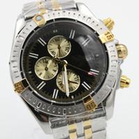 Wholesale Pointer Quartz - Top luxury Watch Brand Watch Men Quartz Chronograph Silver Stainless steel Belt Silver Skeleton Dark Dial White Pointer Trend Mens Watches