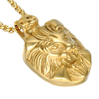 Collana The New Stainless Steel Titanium Necklace e Lion Animal Original Accessories