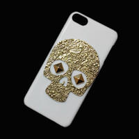 Wholesale Rivet Spikes Bronze - Unique Fashion Punk Rivet Spike Stud Studded Retro Metallic Bronze Skeleton Skull Hard Back Case Cover for Ipod Touch 6 6th 5 5th 4 4th
