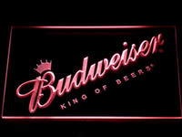 Wholesale Budweiser Led Sign - 002 Budweiser LED Neon Sign Bar Beer Decor Free Shipping Dropshipping Wholesale 7 colors to choose
