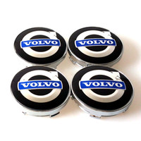 Wholesale volvo hub cap - 4pcs set 60mm alloy volvo wheel center caps hub cover car emblem badge blue C30 C70 S40 V50 S60 V60 V70 S80