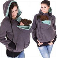 Wholesale Sweaters For Pregnant Women - Maternity Warm Hoodie Kangaroo Sweater with Baby Carriers Women Winter Zipper Coat Jacket for Pregnant Thicken Fleece Hoodies