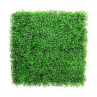 Wholesale 12 Pieces cm x cm Light Green Artificial Boxwood Hedge Mat Privacy Fence Cover Screen Decorativc Artificial Plants Plastic Garden Fence