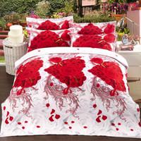 Wholesale Cheap Luxury Bedding Sets - Wholesale Luxury 3d oil painting cheap bedding set queen size Cotton 4pcs comforter  duvet covers bed sheet bedclothes set