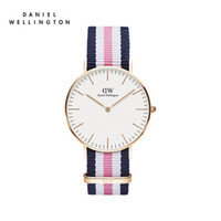 Wholesale Bronze Hand - 7 colors luxury brand Daniel ladies hands watch fashion nylon style black 40mm rose gold men watch with gifts relojes