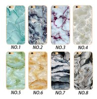 Wholesale Marble Edge - Wholecase Marble Pattern Design Clear Soft TPU Phone Case For Iphone X 8 7 6 5 SE ,Samsung S6 S7 S8 Edge,Oppo R9 R9S R11,Viov Y66,Xiaomi 4