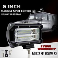 5 pouces 72W CREE Chips LED Work Light Bar Offroad Flood Beam Led Lampes de travail Truck SUV ATV 4x4 4WD 12v 24v Led Driving Lamp
