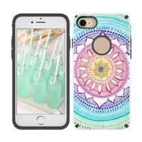 Wholesale Uv Resistant Paint - For Samsung Note 8 Sleek Hybrid 2 in 1 TPU PC Case With UV Painting Cover For iPhone X 8 7 6 6s Plus ZTE Max XL With OPP BAG