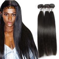Wholesale human hair extensions 26 set resale online - xblhair silky straight human hair extensions brazilian hair pieces one set silky straight human hair weave