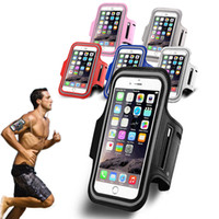 Wholesale iphone workout case armband online – custom For iphone X Sport Running Armband Case Workout Holder Pouch Antistatic Waterproof phone Bag Cover For iphone plus s Samsung S7 S6