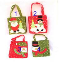 Wholesale Cloth Goody Bags - 2017 EMS Christmas Treat Bags & Christmas Treat Holders Christmas Candy Bag Christmas Party Goody Bags Santa Pants Xmas Bag For Candy Gift