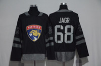 florida panteras jersey jaromir jagr al por mayor-1917-2017 100 ° Aniversario Hockey Jerseys Florida Panthers # 68 Jaromir Jagr 100 ° Parche Black 100% cosido con Patch