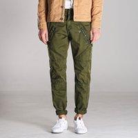 Wholesale Match Men Cargo Pants - 2016 Casual Men Pants Zipper Overalls Cotton Winter Cargo Pants all match fashion Workout Pants autumn Trousers Male streetwear
