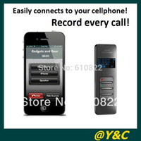 Wholesale free china call - Wholesale-Hot selling! 8GB Bluetooth voice recorder with metal Shell VOSVOR system call phone recording free china post