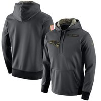 Wholesale Services Animals - Free Shipping Mens Women Youth Sweatshirts Patriots Anthracite Salute to Service Player Performance Pullover hoodies Size S-4XL