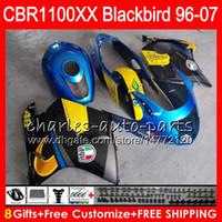 Wholesale Honda Blackbird - Body For HONDA Blackbird Graffiti blue CBR1100 XX CBR1100XX 96 97 98 99 00 01 81HM5 CBR 1100 XX 1100XX 1996 1997 1998 1999 2000 2001 Fairing