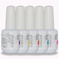 ingrosso polvere uv per unghie da 15 ml-500pcs / lot di alta qualità DOMCCO durano a lungo si impregna fuori LED UV del gel del chiodo