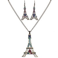 ingrosso set di gioielli in torre eiffel-MS1504522 Set di gioielli di alta qualità Set di collana di alta qualità per le donne Gioielli in resina di cristallo Design unico oceano Torre Eiffel Animal