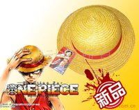 Wholesale Monkey D Luffy Hat - Wholesale-One Piece Strawhat Cosplay Hat Monkey D Luffy Cosplay Props Animation Hot Accessories Anime Cosplay Hat