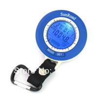 Wholesale Mini Lead Fishing Lure - Wholesale-Mini LED Digital Fishing Barometer Thermometer Altimeter Weather Forecast Waterproof Multi temp reels lure line fish finder