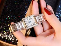 Wholesale Gold Watch Bands For Sale - hot sale 2016 new designer famous brand women rhinestone watches diamond women dress watches for ladies stainless steel band