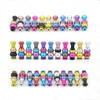 Wholesale Drip Tips For Ecigarette - Beautiful Colorful 510 Candy Aluminum drip tips for e cigs Atomizer Clearomizer vape mod ecigarette free shipping