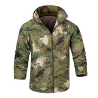 Wholesale Uv Light Clothing - Fall-MEGE New Style 15 Camouflage colors Sun & UV Protection Coats Sport Skin Jacket, Super Light Coat, Men Tactical Outdoor Clothing
