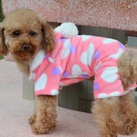 Wholesale Love Pink Clothing Sweaters - Newly Design Pink Love Heart Small Dog Clothes Soft Winter Pet Dog Four Legs Jumpsuits Pajamas ropa perro Coat dog fleece clothes