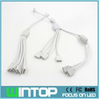 Wholesale Rgb Led Splitter - 1 to 2 3 4 4pin RGB LED Connector Cable RGB Splitter Wire for SMD3528 5050 RGB Led Strip Light