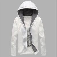 Wholesale Fall Protection Jacket - Fall-brand Sports jacket outdoor Quick Drying skin Windbreaker Sun Protection Clothing men women Ultra-thin Waterproof Anti-UV