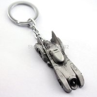 Wholesale Tire Key Ring - Official DC Comics Batman Metal Batmobile Collectable Keychain Keyring - Awesome Tire can rotate Batman chariots key ring